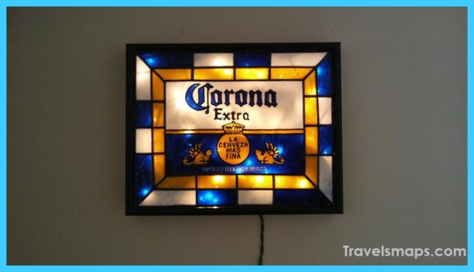 Corona Inspired Beer Sign Hand Painted Stained Glass look