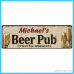 Michael's Beer Pub Rustic Look Chic Sign Man Cave Garage
