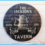 RUSTIC Beer Sign, Barrel Look and Feel, Beer, Personalized Bar Signs