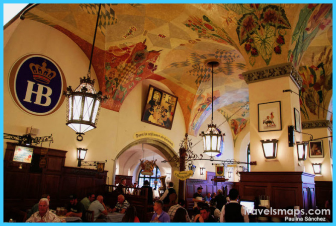 Hofbräuhaus Beer Hall, the most famous in Munich