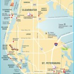 Pinellas County map Clearwater, St Petersburg