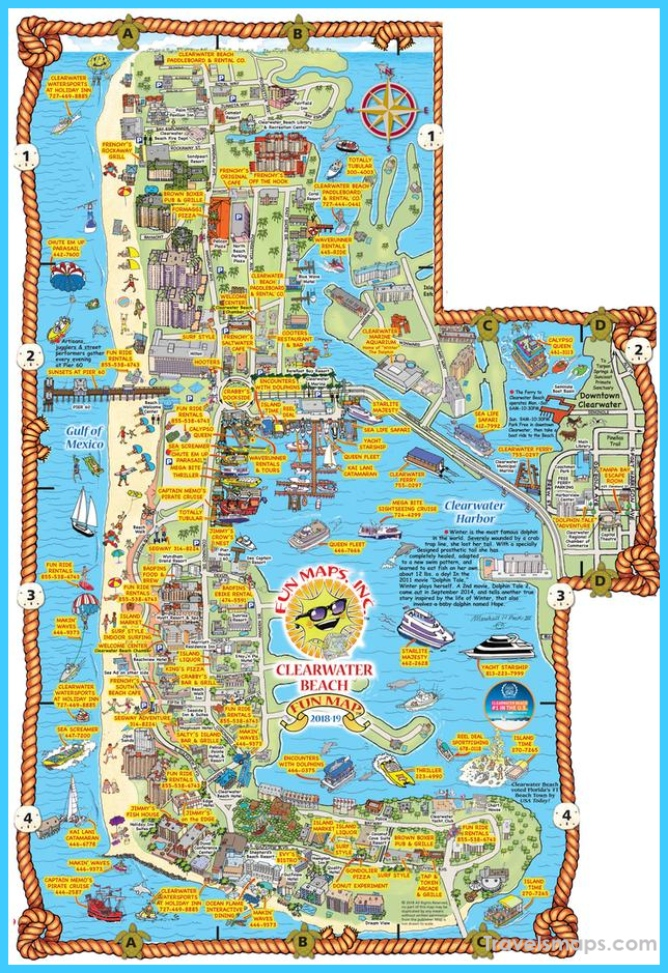 Clearwater Beach Map Contemporary Ideas Design
