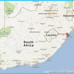 Durban on Map of South Africa