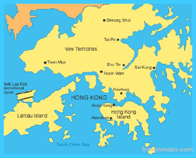 Hong Kong Map, Hong Kong Tourist Map, Hong Kong Macau Map