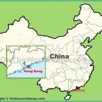 Hong Kong location on the map of China