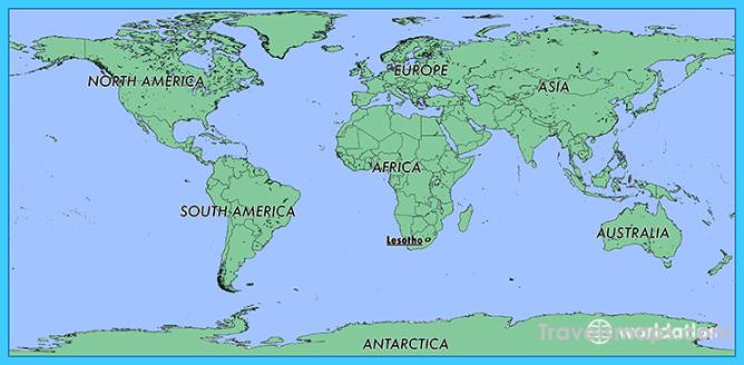 Where Is Lesotho Lesotho Map Map Of Lesotho Travelsmaps Com