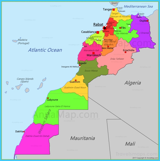 Morocco Map | Map of Morocco