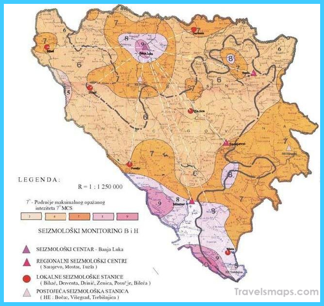 Seismic Hazard Map of Bosnia and Herzegovina