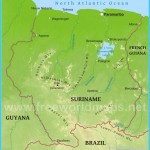 Suriname Physical Map