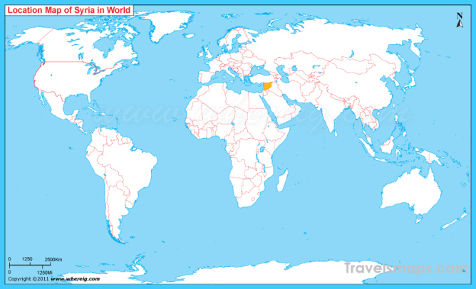 Where is Syria Located, Syria Location on World Map