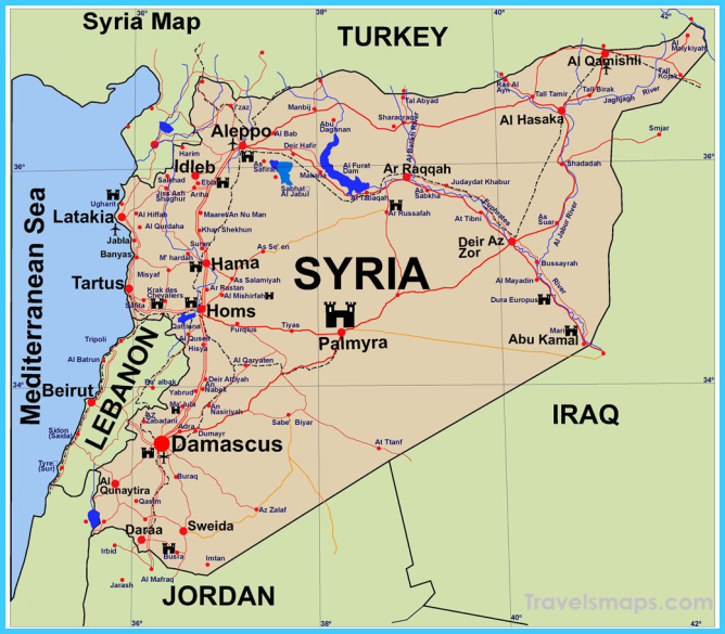 Where is Syria? - Syria Map - Map of Syria - TravelsMaps.Com ®