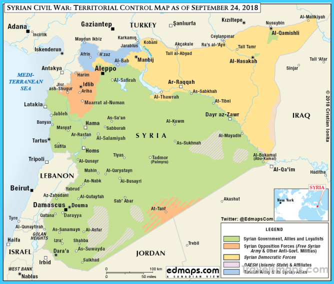Syrian Civil War in Maps