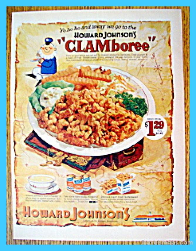 Vintage Ad:  Howard Johnson's Clamboree