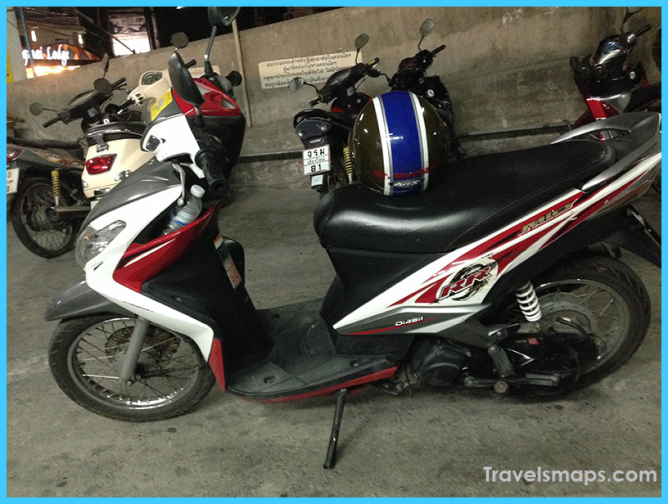 Renting A Scooter in Chiang Mai, Thailand