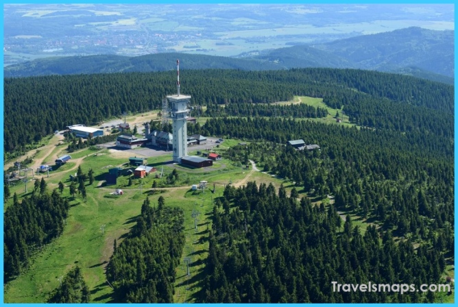 Jachymov - Sankt Joachimsthal from the bird's eye view: Radio tower