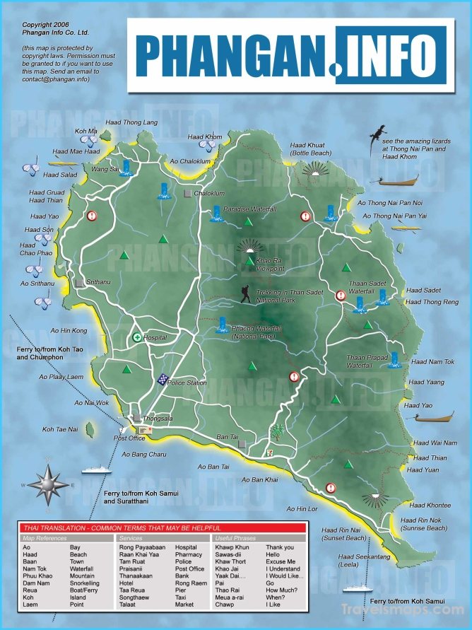 Koh Pha Ngan Location On The Thailand Map