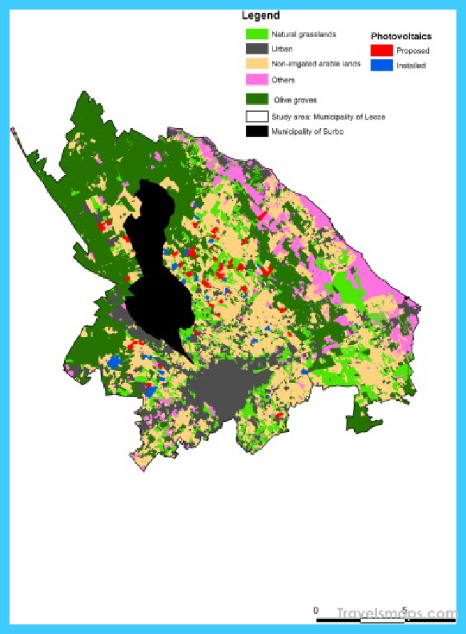 Land-use map of the Municipality of Lecce (southern Italy ...