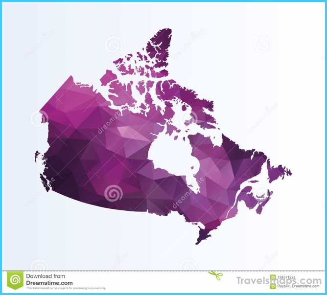 Polygonal map of Canada stock illustration. Illustration of design