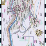 Streetwise Venice Water Bus Map - Laminated Vaporetto Venice Map for