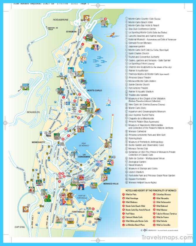 Monaco Tourist Map - Monaco