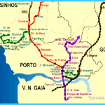 Map of Metro do Porto routes. Underground tunnels are Line C from