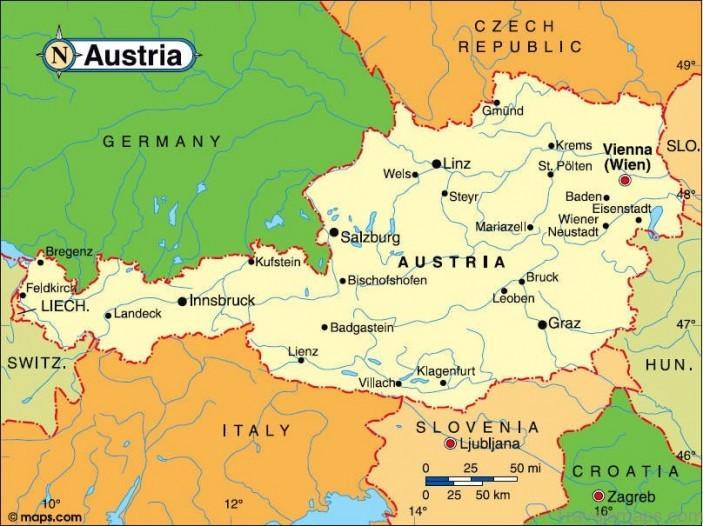 Map of Austria ile ilgili görsel sonucu