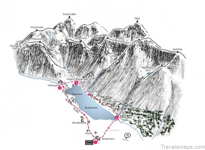 buttermere map buttermere camping3
