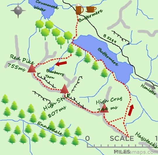buttermere map buttermere camping4