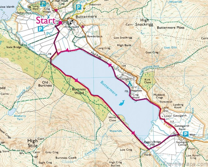 buttermere map buttermere camping6