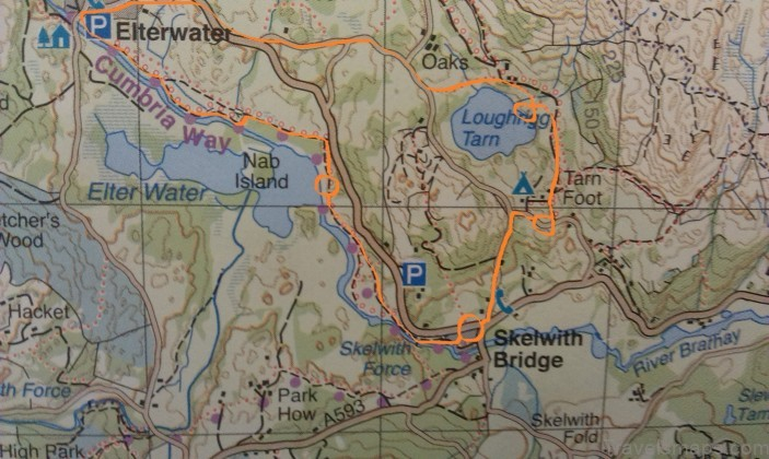elter water map elter water lake district camping guide2