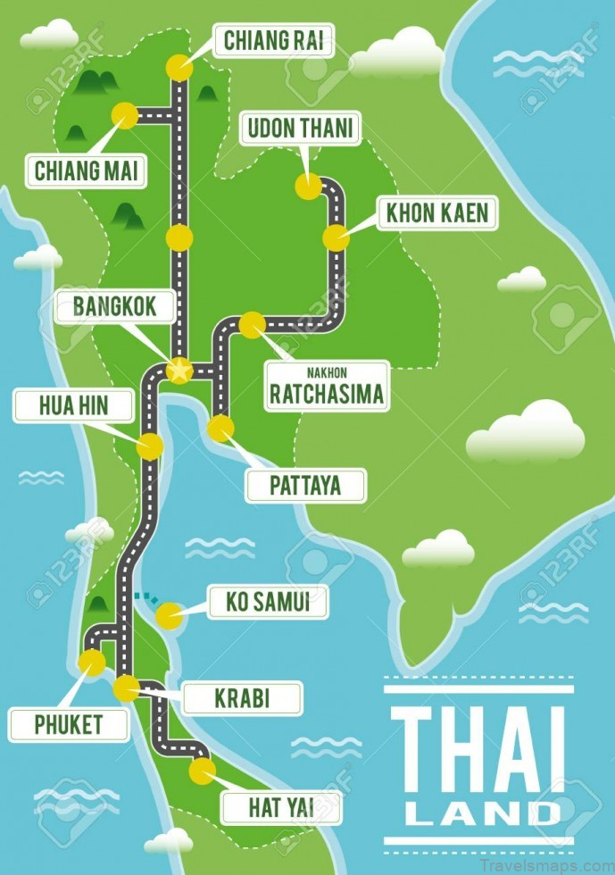 map of thailand travel to thailand