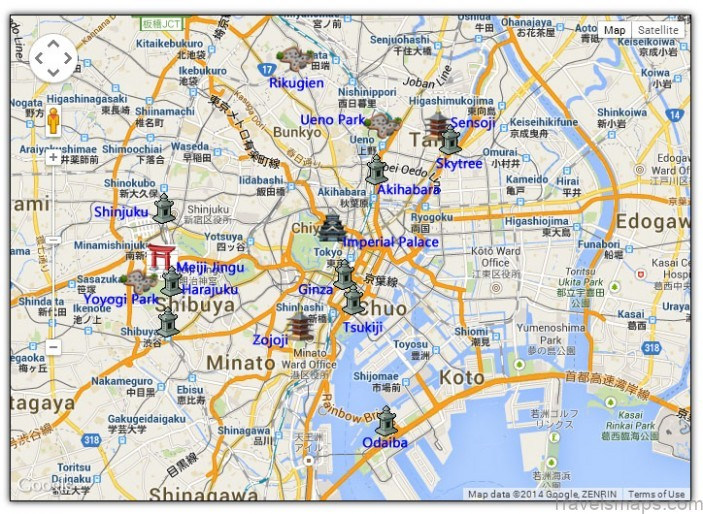 map of tokyo best places to visit in tokyo japan2