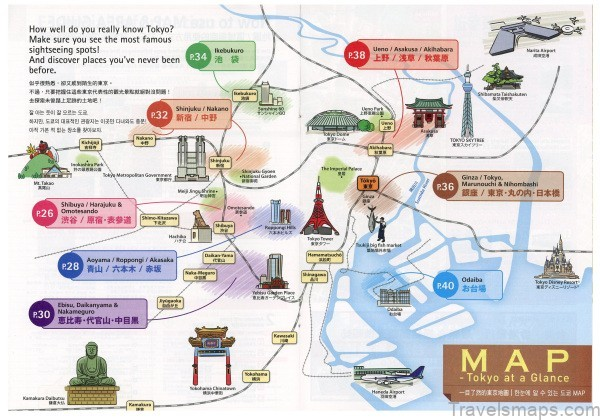 map of tokyo best places to visit in tokyo japan4