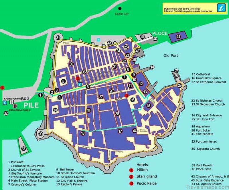 dubrovnik croatia map